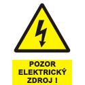 Pozor elektrický zdroj !