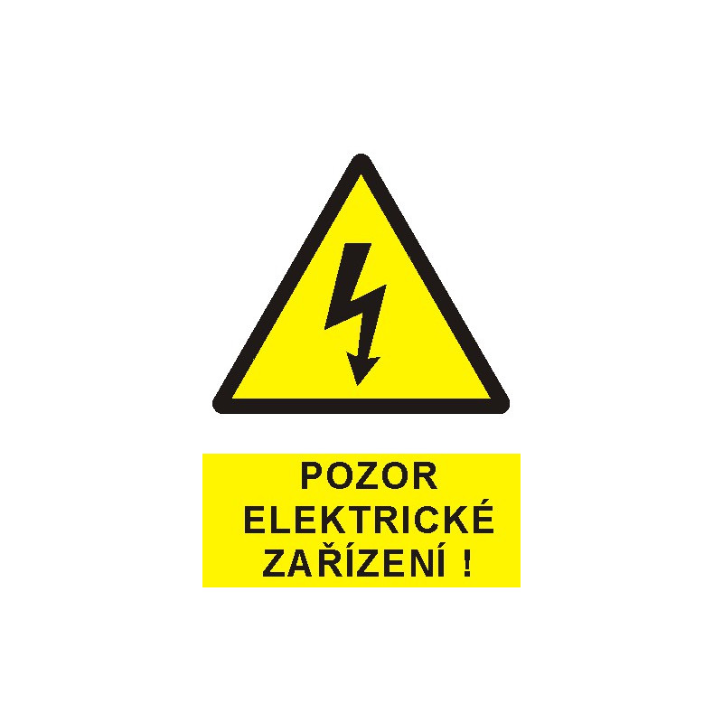 Pozor elektrické zařízení