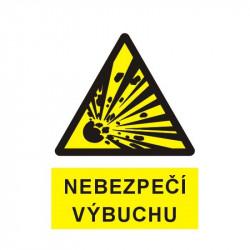 Nebezpečí výbuchu (piktogram výbuch)